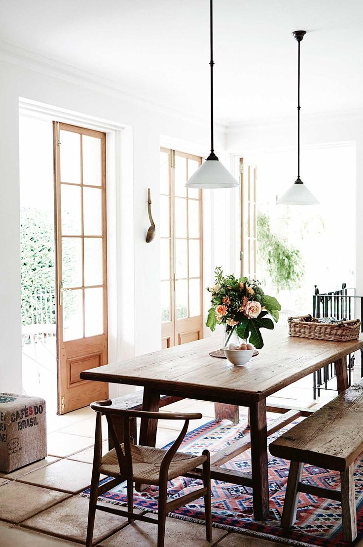 Family Farmhouse In Adelaide Hills With Gorgeous Garden  Dining Enchanting Wooden Bench For Dining Room Table Inspiration