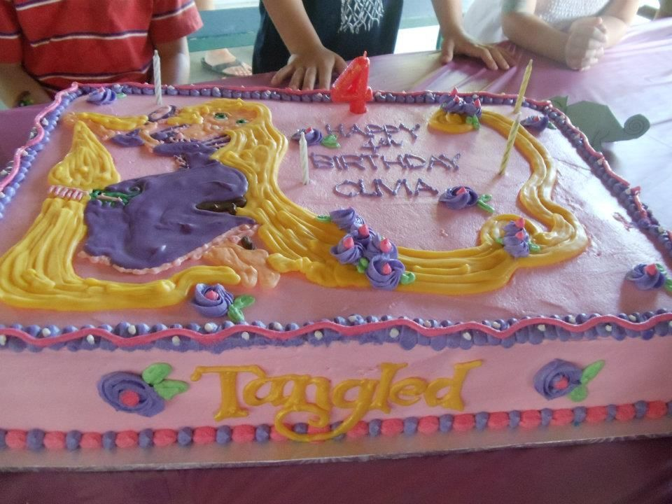 Tangled Birthday Cake Taya Bday Tangled Birthday Party