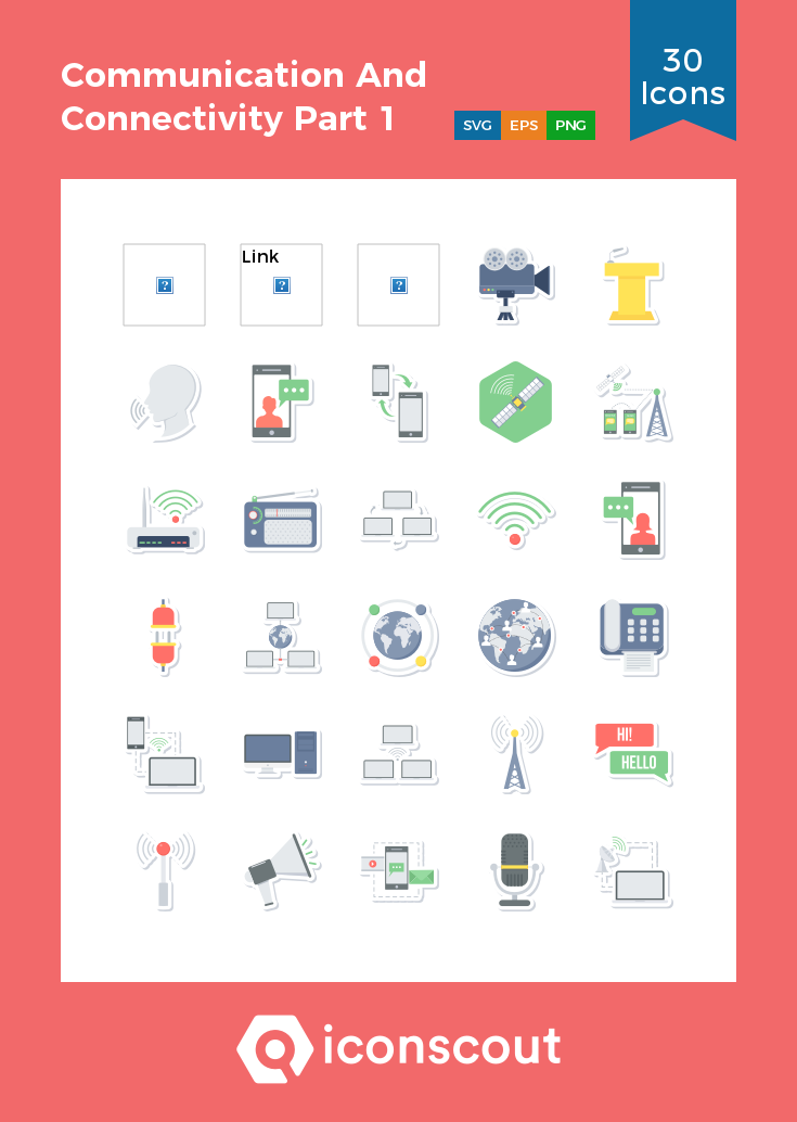 Download Communication And Connectivity Part 1 Icon Pack Available In Svg Png Eps Ai Icon Fonts Icon Pack Communication Communication Icon