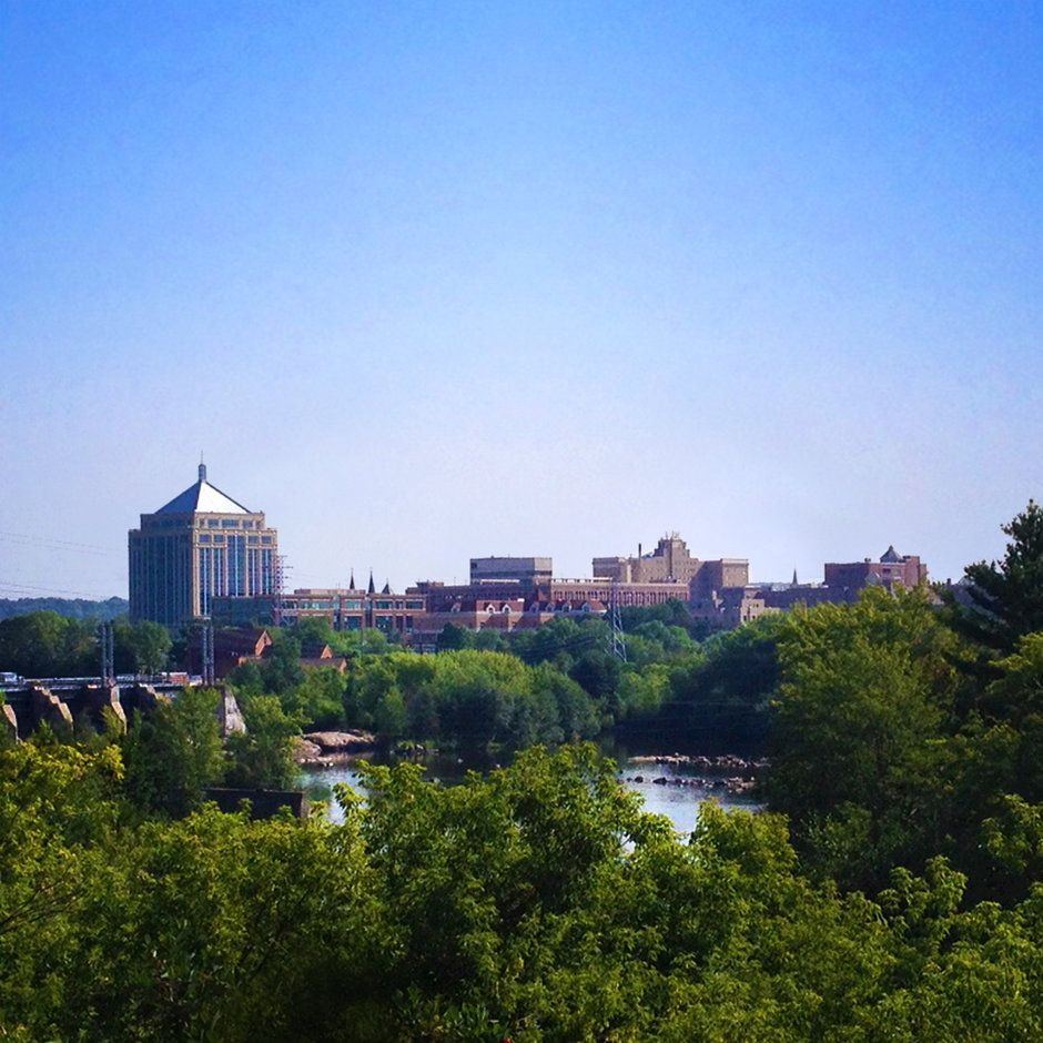 downtown wausau skyline wausau wi by michael burmesch on capture