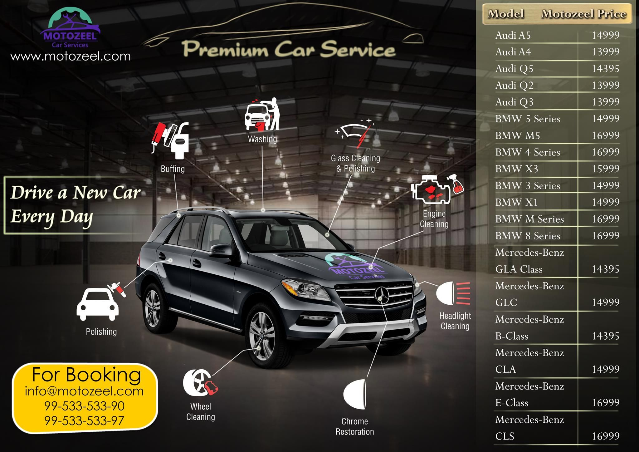 Drive a New Car Everyday.. Check Out Premium Car Services