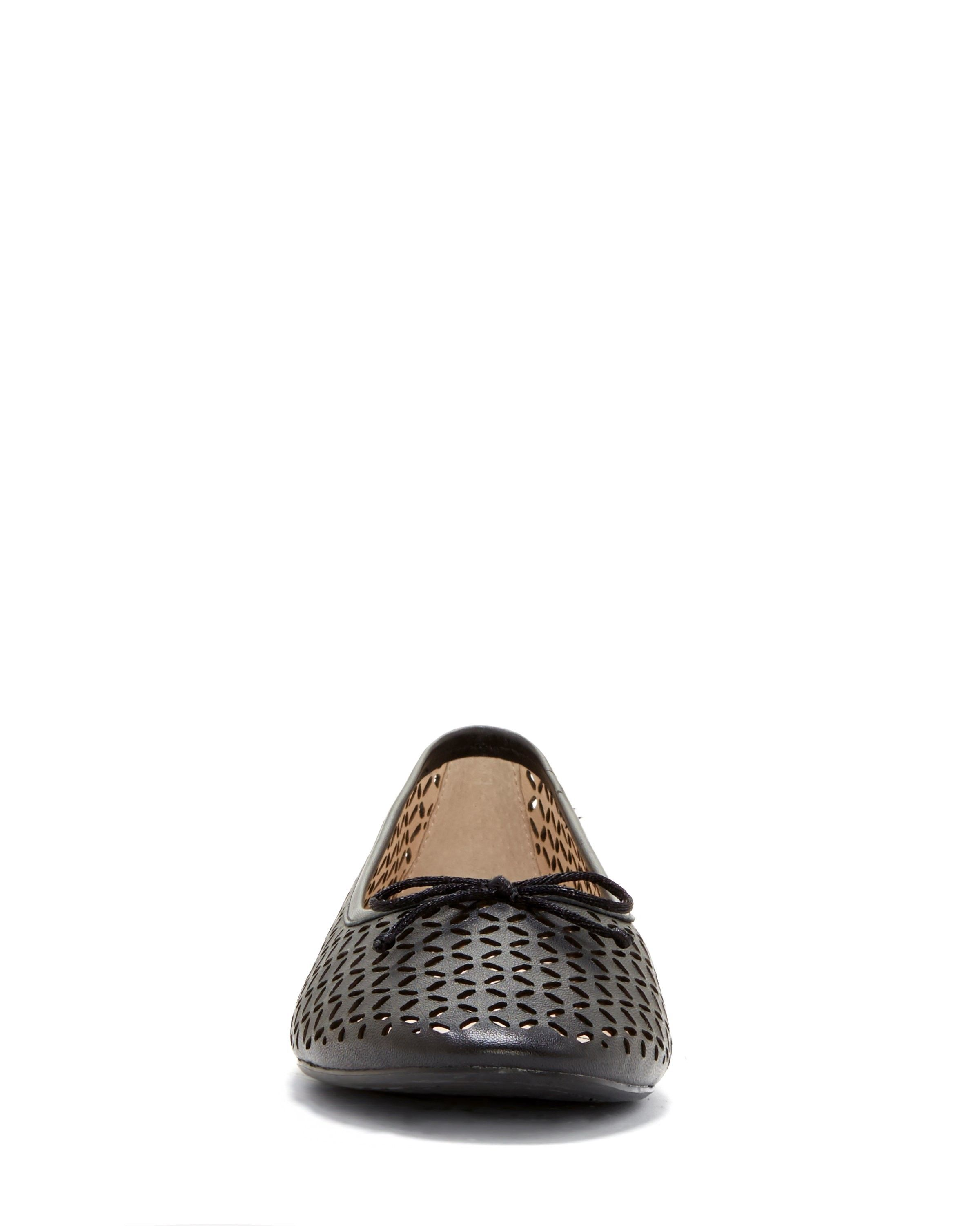 3ae643a6a9 Vince Camuto Louise Et Cie Congo – Perforated Ballet Flat - Platina  Metallic Sheep Nappa 9.5