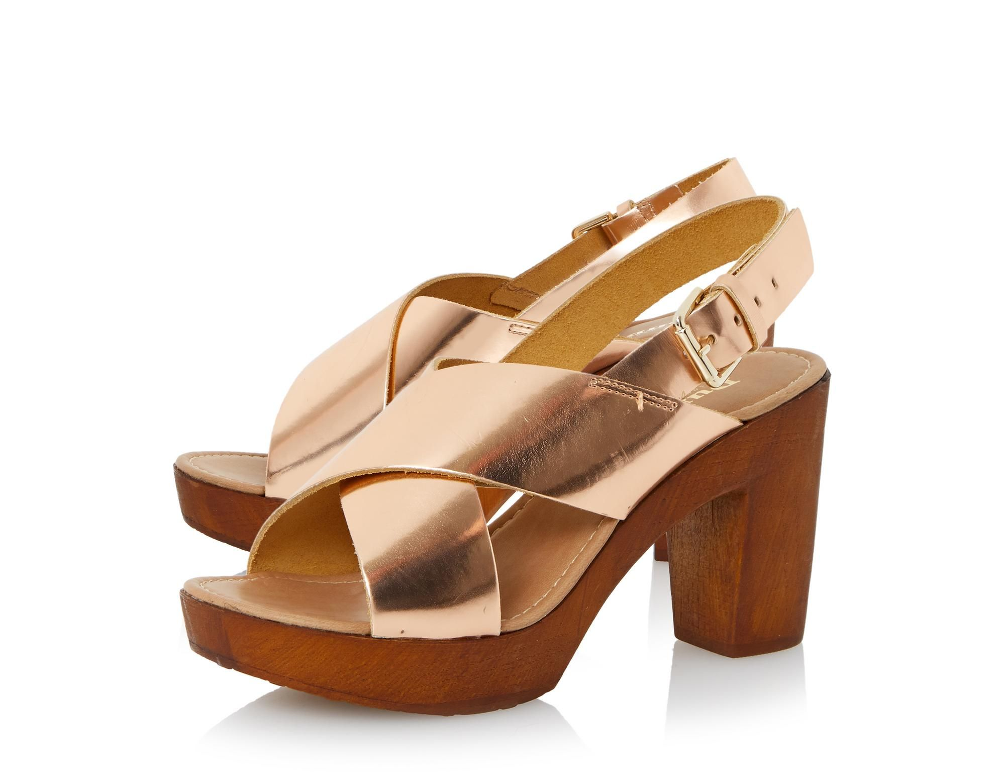 4a425731d DUNE LADIES FRAGGEL - Leather Wooden Clog Effect Heeled Sandal By Dune  London  dunelondon  dune  shoes  sandals  heels  70s  fashion  style