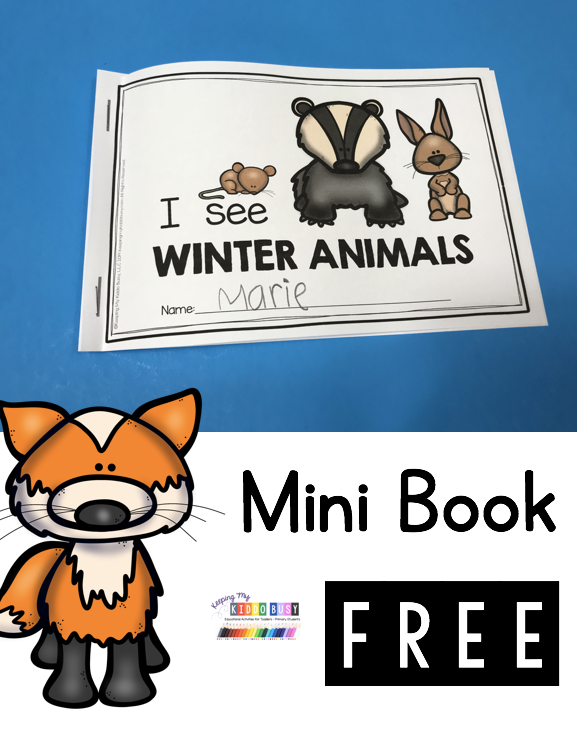 Photo of FREE Winter Animal Mini Reader – The Mitten Activities for kindergarten and first grade