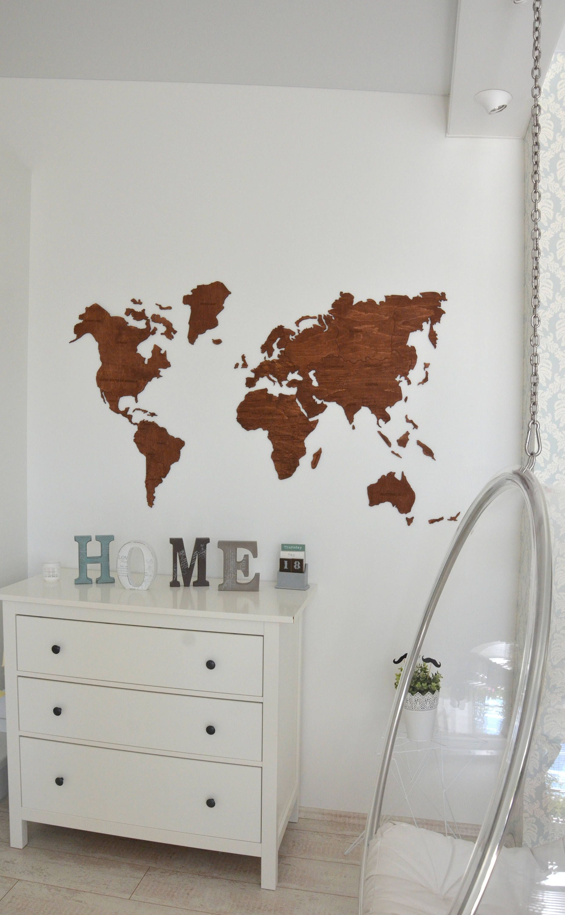Office wall decor wooden world map of the world canvas large travel office wall decor wooden world map of the world canvas large travel living room rustic housewarming new house home gift for wife father gumiabroncs Images