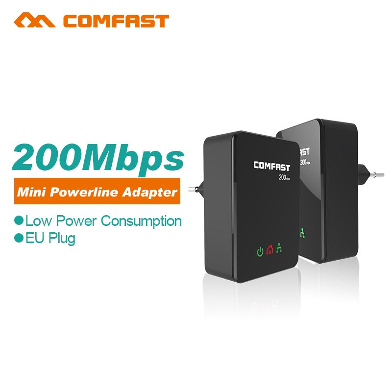 Power line ethernet adapter extender 200Mbps COMFAST 24GHz Mini plc