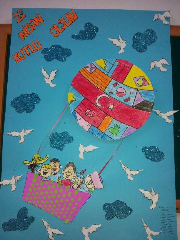 23 Nisan Projemiz Nisan Pastel Boyalar Cocuklar Icin Sanat