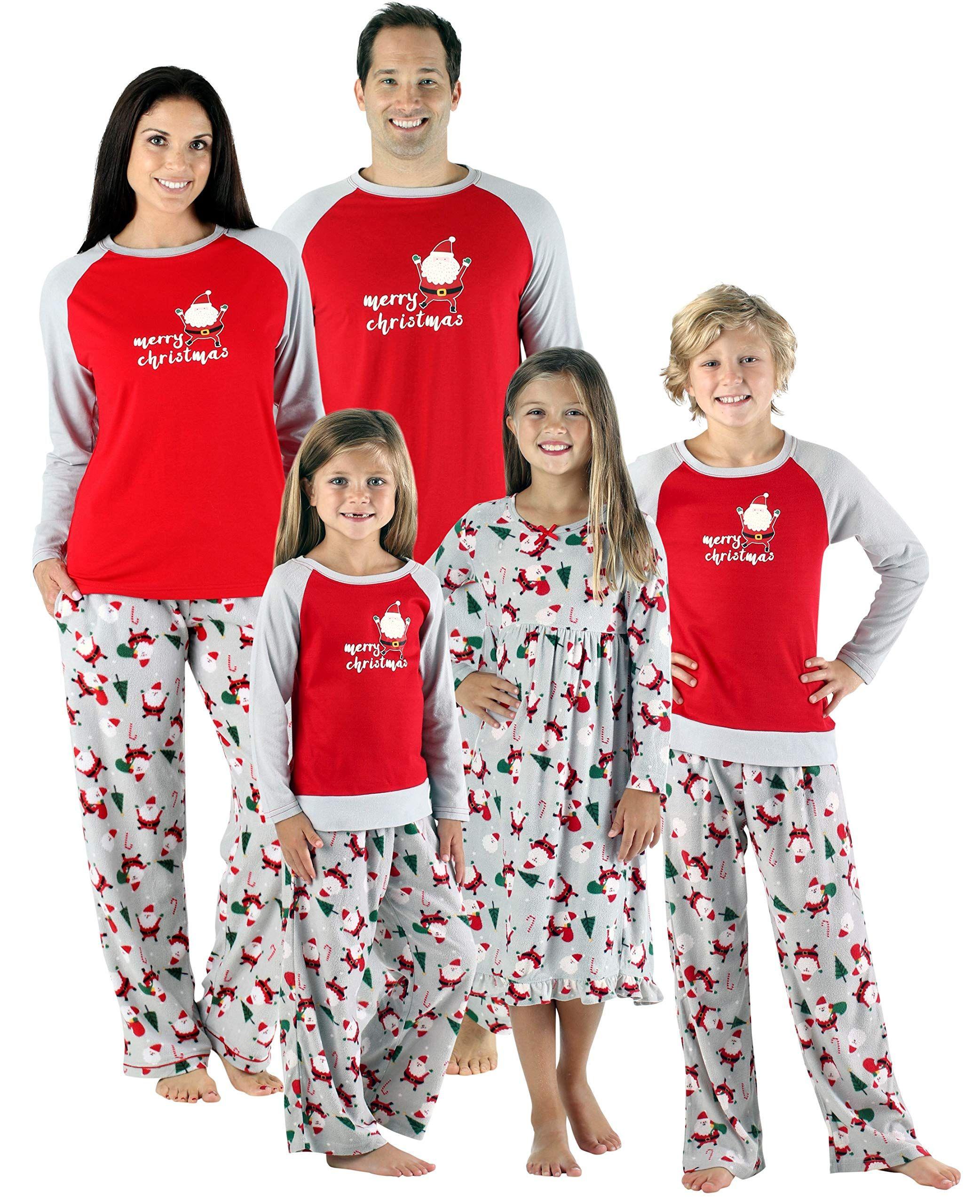 e95f0643da SleepytimePjs Christmas Family Matching Fleece Santa Pajama PJ SetsKids  Nightgown STMF4036G2T *** More info could be found at the image url.