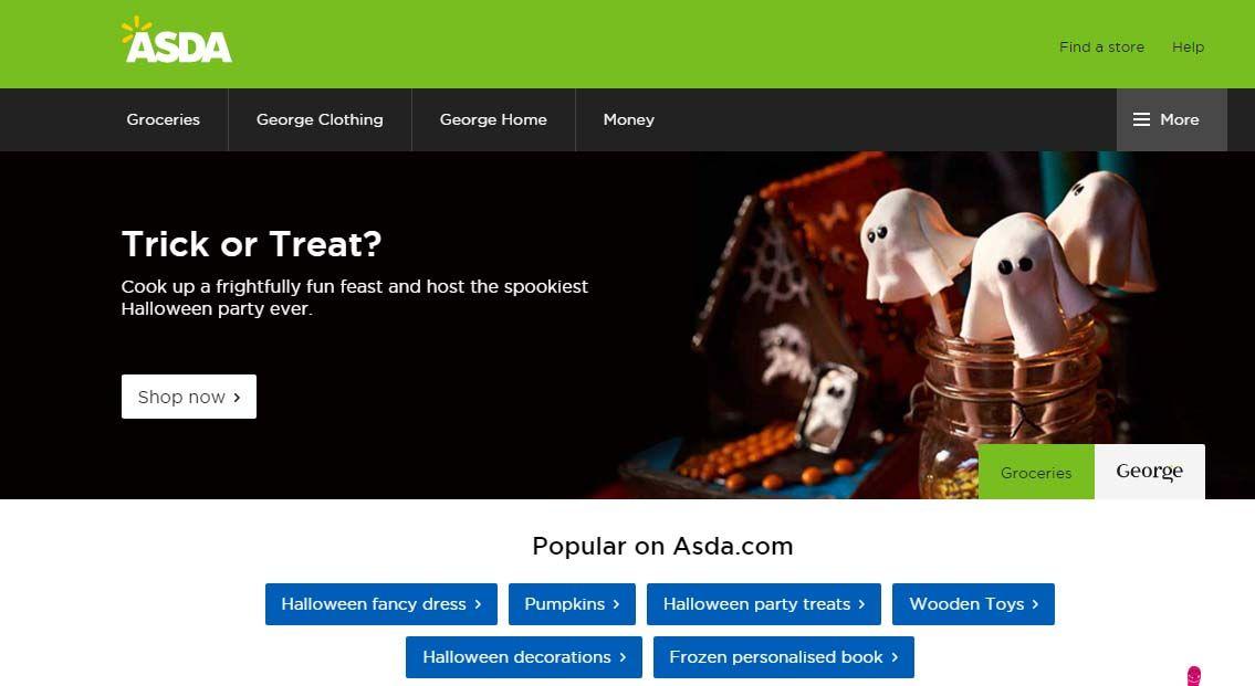 Asda Website Halloween 2015 Halloween POS 2015 Pinterest - asda halloween decorations