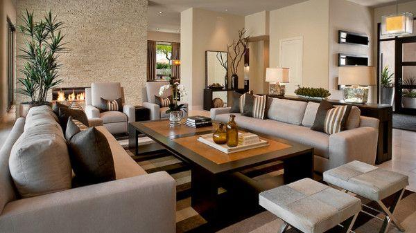 Big Living Room With Gorgeous Living Space Furniture Arrangem Furniture Placement Living Room Contemporary Living Room Design Living Room Furniture Arrangement