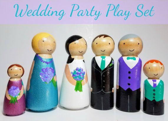 PEG muñeca boda juego conjunto boda del juguete regalo de