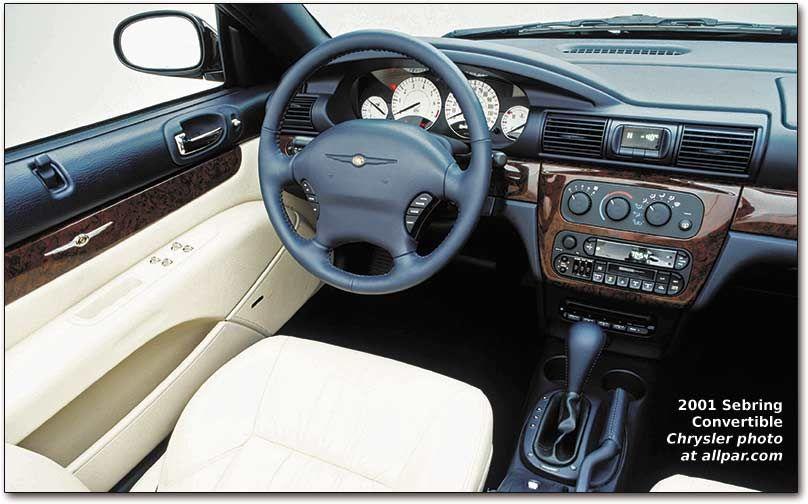 Chrysler Sebring Coupe Convertible 25l V6 Chrysler Sebring Sebring Convertible Chrysler