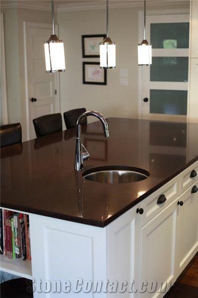 Ceasarstone Chocolate Quartz Stone Countertop Kitchen