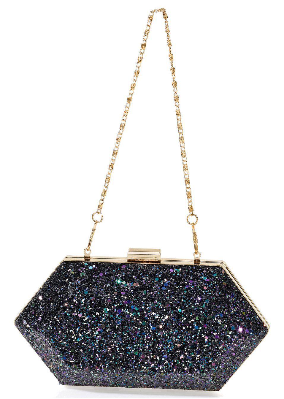 Torebka Pudelko Brokatowa Glitter Party Shoulder Bag Bpc Bonprix Collection