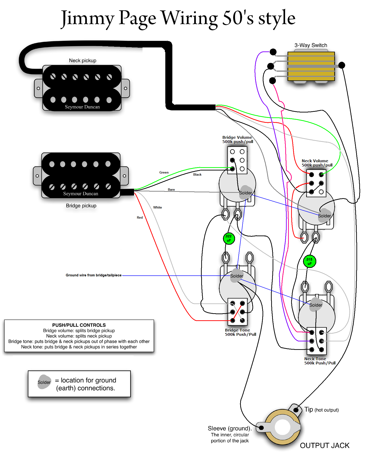Jimmy Page 50s Wiring Mylespaulcom Instruments In 2018 3 Way Schematic