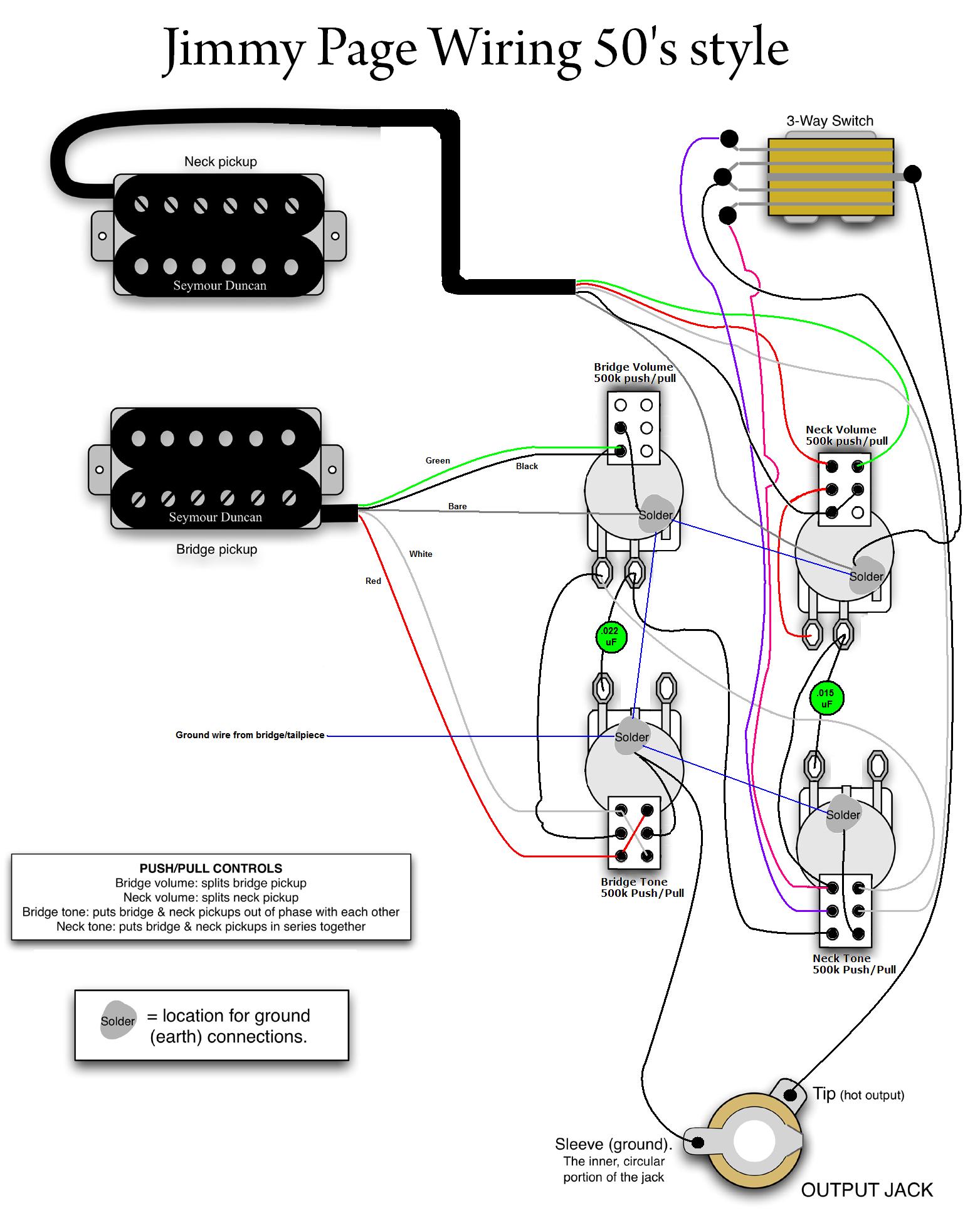 Jimmy Page 50s Wiring  MyLesPaul | Instruments in 2019 | Guitarras, Musica instrumentos