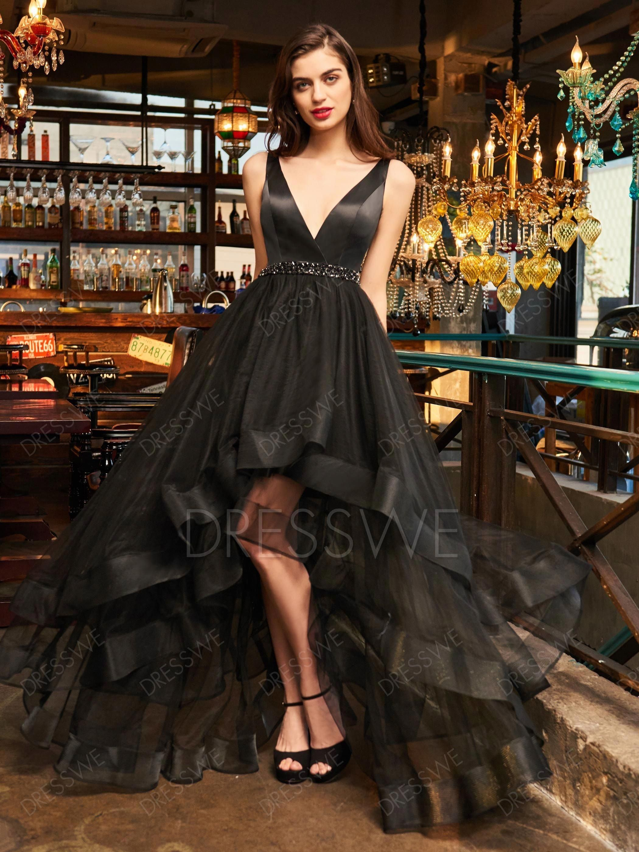0e15d3260af Buy A Line V Neck Layers Asymmetry Cocktail Dress With Beadings Online