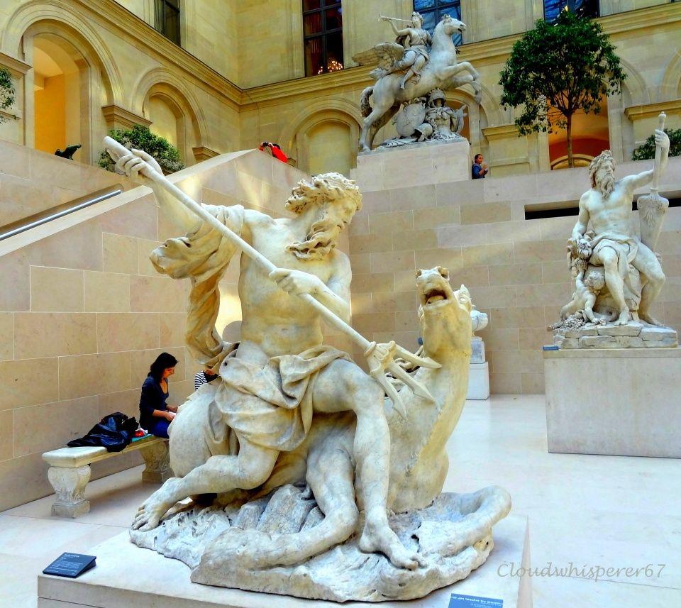 Marble Statues - Le Louvre Museum Paris