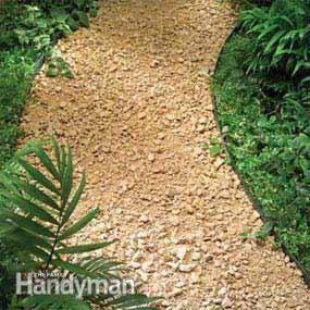 Planning A Backyard Path Gravel Paths Gravel Landscaping Gravel Path Backyard Landscaping