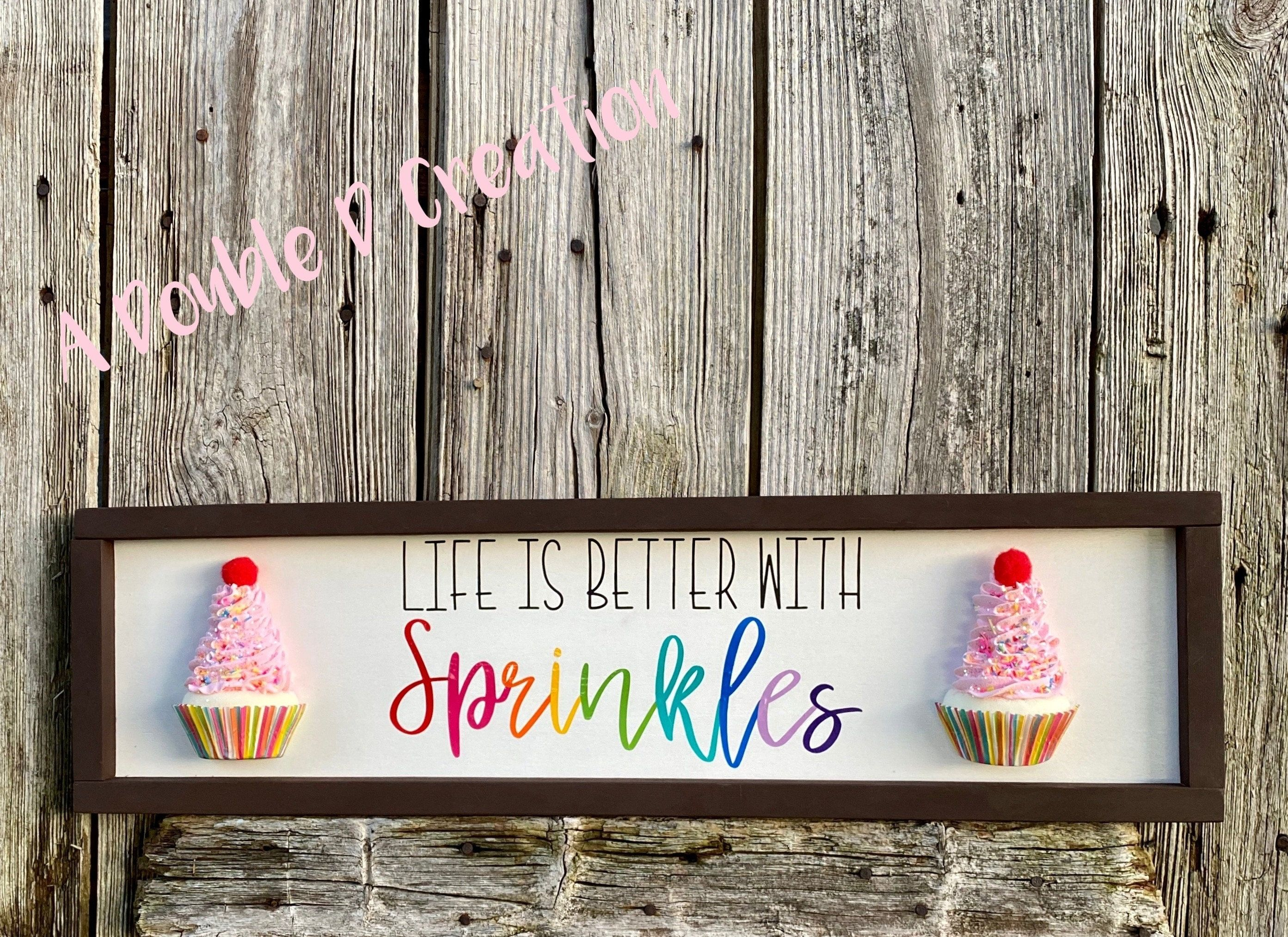 Cupcake Sign Cupcake Decor Kitchen Decor Girls Bedroom Etsy Candy Themed Bedroom Cupcake Signs Cupcake Bedroom Cupcake decor for bedroom