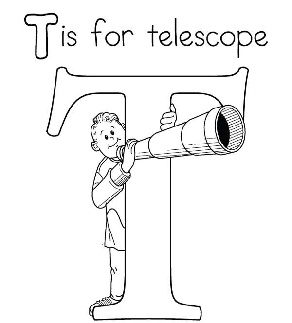 T For Telescope Coloring Pages Alphabet Coloring Pages Letter A Coloring Pages Alphabet Coloring