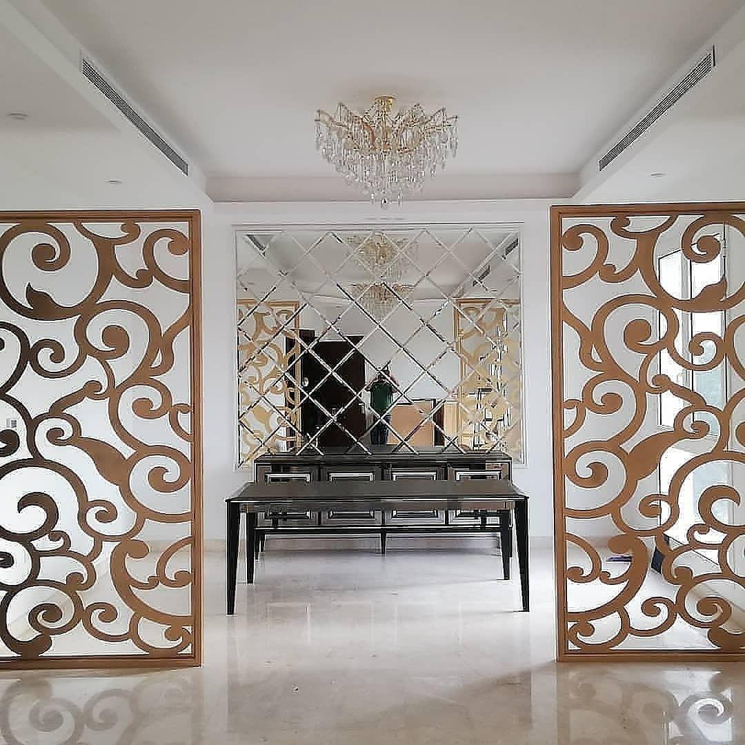 ديكور بارتشن ديكور قواطع خشب ديكور مرايا ديكورات خشب قواطع Pastel Living Room Home Decor Decor