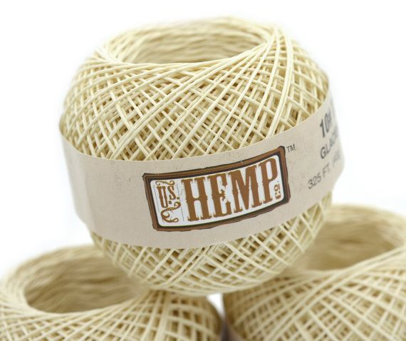 Hemp Twine, .5mm, 325 feet,  Hemp Bead Cord,  Natural Hemp Twine, Thin  Twine