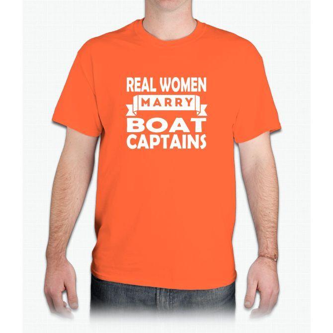 Real Women Marry Boat Captains Pajamas - Mens T-Shirt