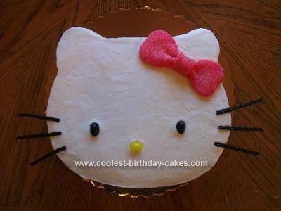 Homemade Hello Kitty Birthday Cake Sweet Pinterest Hello