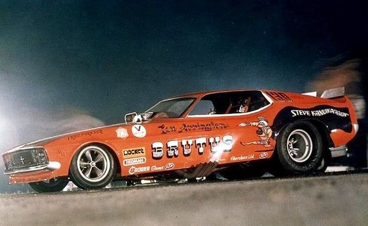 Brutus Funny Car   Brutus Ford Mustang Funny Car   Vintage Drag Racing   Pinterest