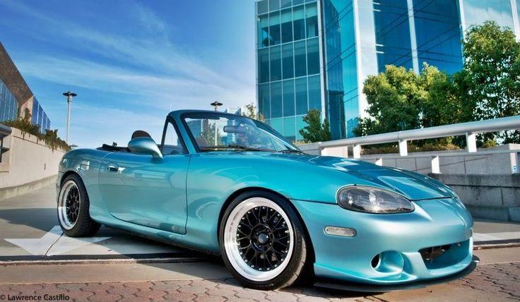 Wonderful Crystal Blue Metallic Mazda Miata Amazing Design