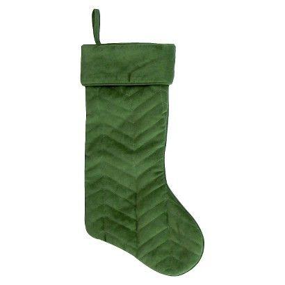 20 quilted velvet stocking green target online - Christmas Socks Target