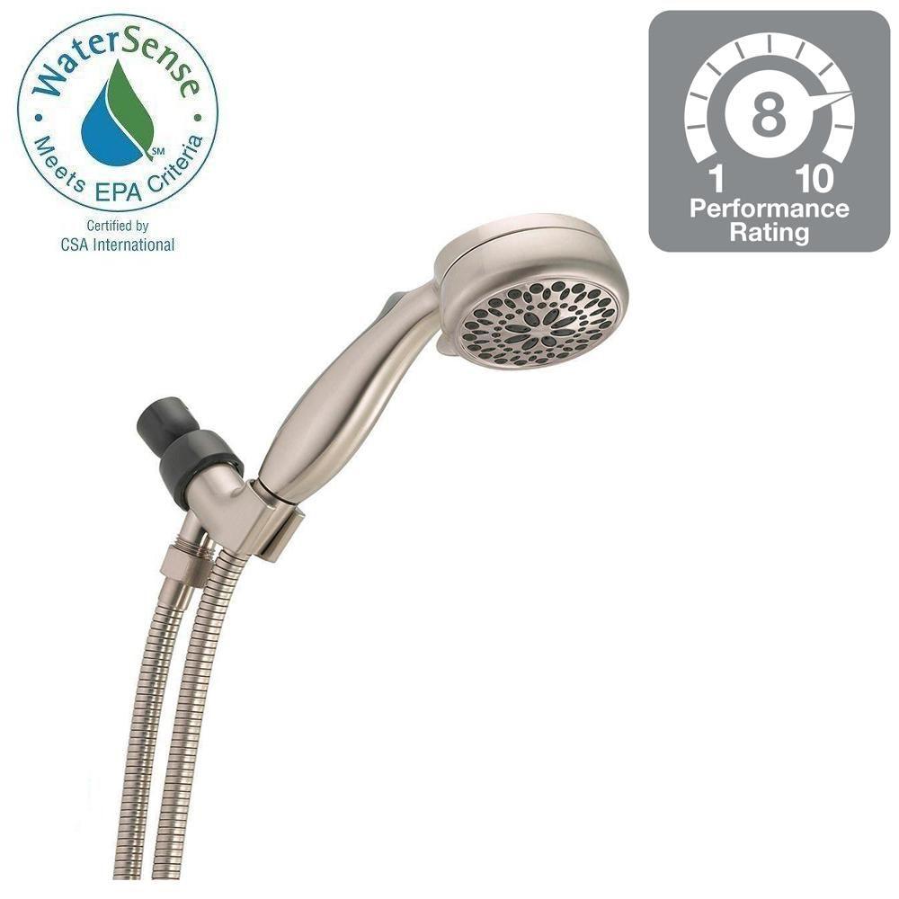 Superior Delta 7 Spray Handheld Hand Shower In Brushed Nickel
