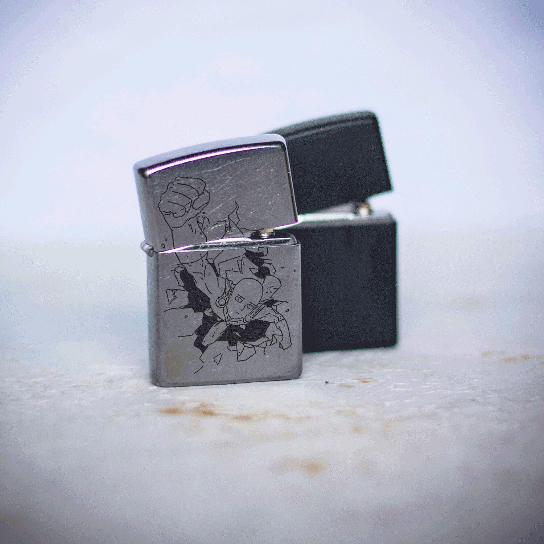 One Punch Man Saitama Bald Cape Custom Zippo 207 Lighter Custom Zippo Zippo Zippo Lighter