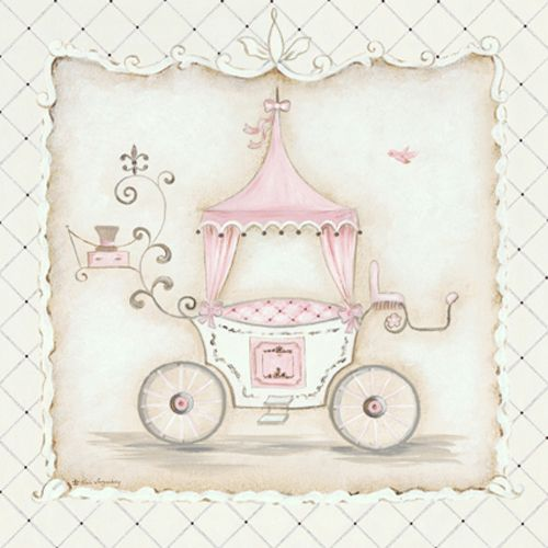 La Belle Carriage Ii Canvas Artwork And Wall Hangings In Decor Art Wall Kids Princess Canvas Baby Wall Art