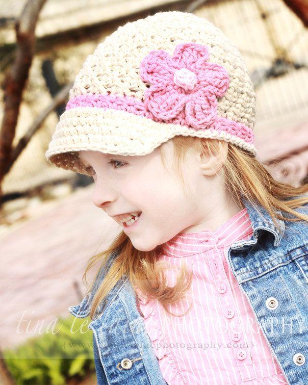 Crochet Hat Pattern Girl Crochet Hat Daisy Visor Beanie Pdf 150