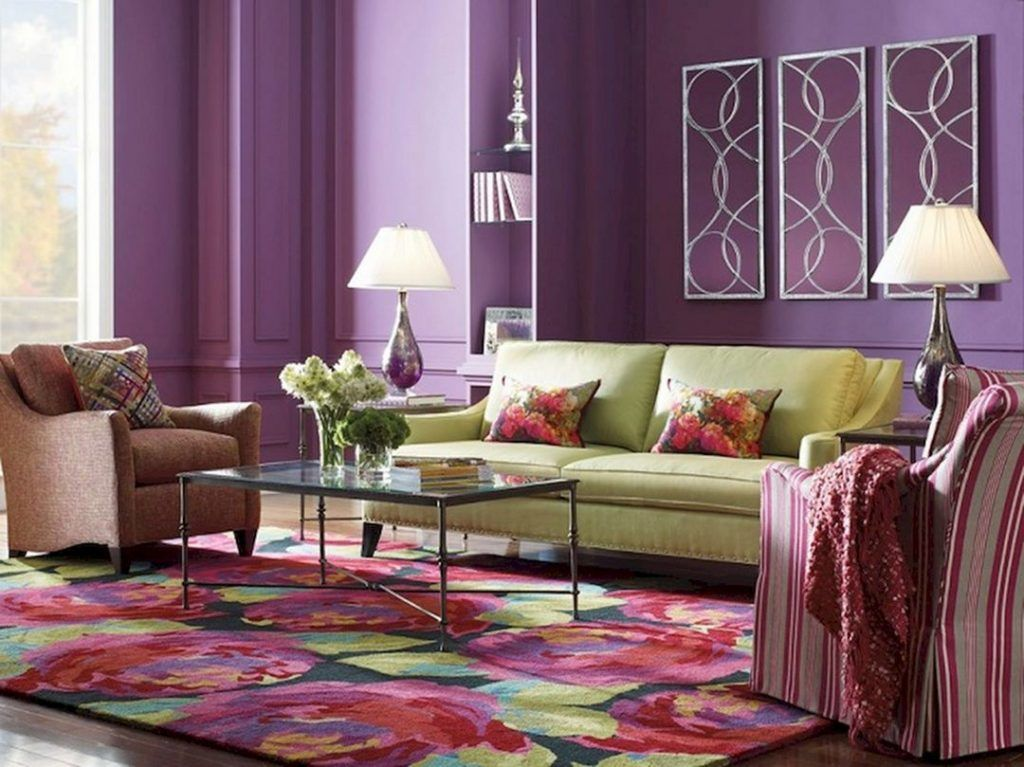 cute 10 purple living room ideas for feeling excited