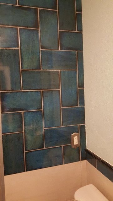 Bathroom Wall Tile Catania Blue 6 X 12 In Your