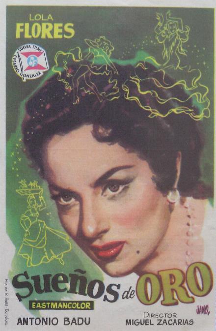 Folleto Del Film Sueños De Oro Lola Flores 1959 Poster Movie Theater Movie Posters
