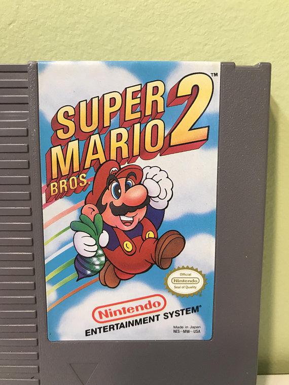 Super Mario Bros  2 Mario Madness Princess Peach Luigi Toad