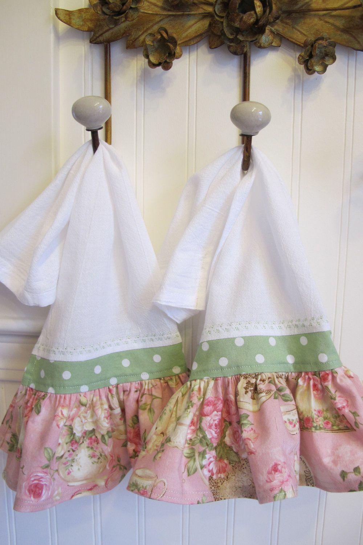Ruffled Kitchen Hand Towel Set | sewing | Pinterest | Hand towel ...