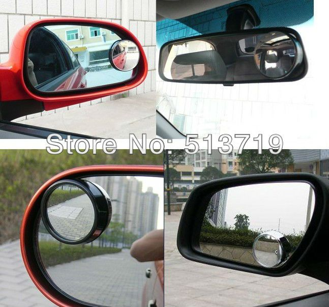 Newest Abs Convex Blind Spot Mirror Borway Circle Frameless Add On Car Mirror 360 Degree Rotatable Rear Vie Blind Spot Mirrors Rear View Mirror Convex Mirror