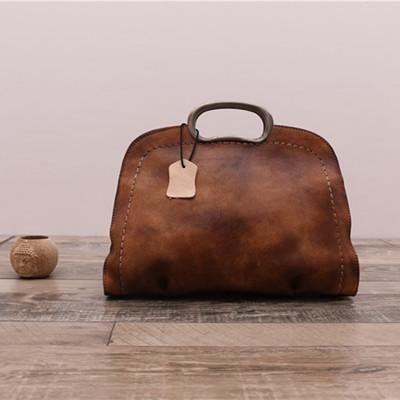 57fa4590d7a15 Handmade Natural Leather Handbag Messenger Bag Shoulder Bag for Women in  Blue WF51 - LISABAG
