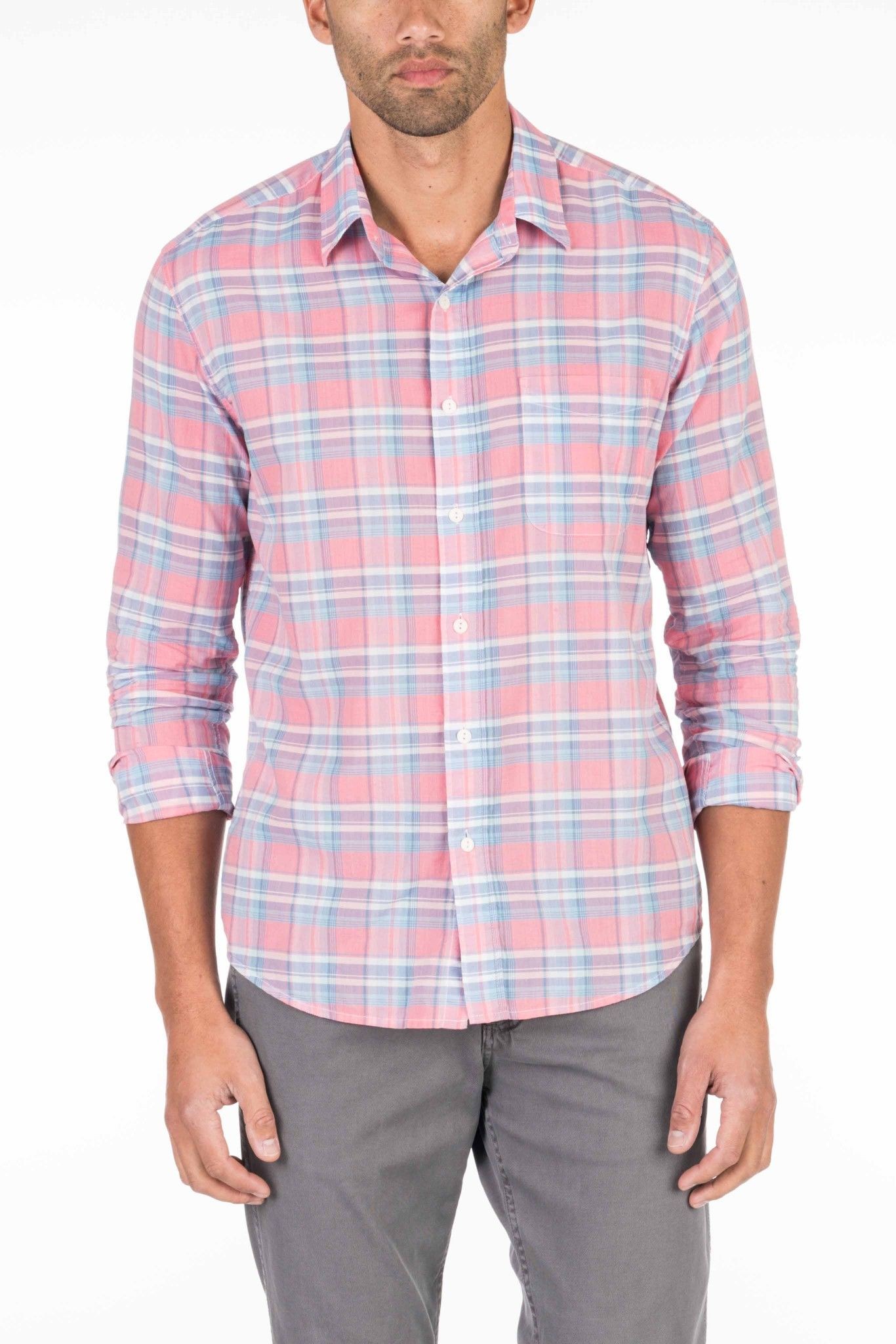 436951df FAHERTY Summer Blend Shirt - Red Plaid. #faherty #cloth # | Faherty ...