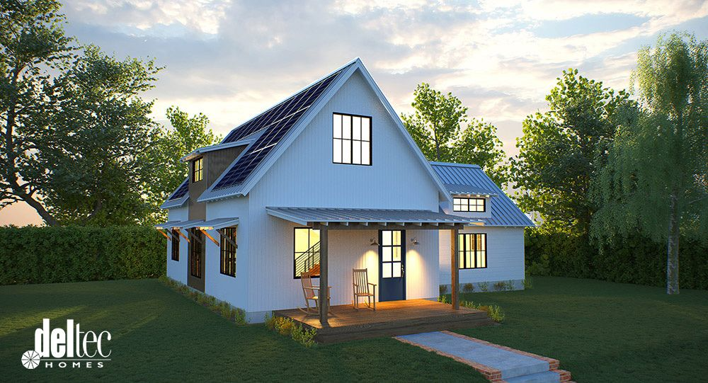Solar Farmhouse Modern Farmhouse Modern Prefab Farmhouse Net Zero Deltec Homes Farmhouse Architecture Modern Prefab Homes Affordable Prefab Homes