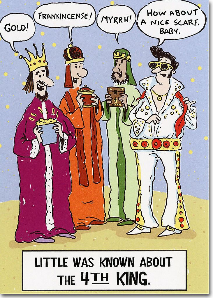 Details about Elvis as 4th King Funny Christmas Card by