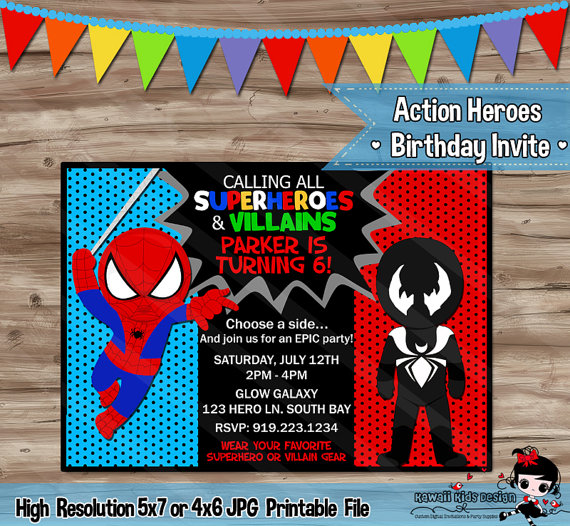 spider man and venom birthday
