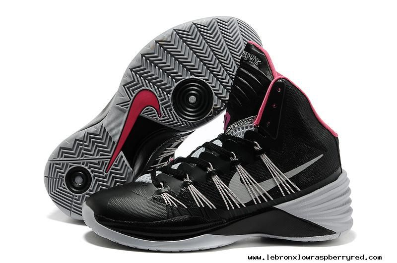 Black Grey Pink Nike Hyperdunk 2013