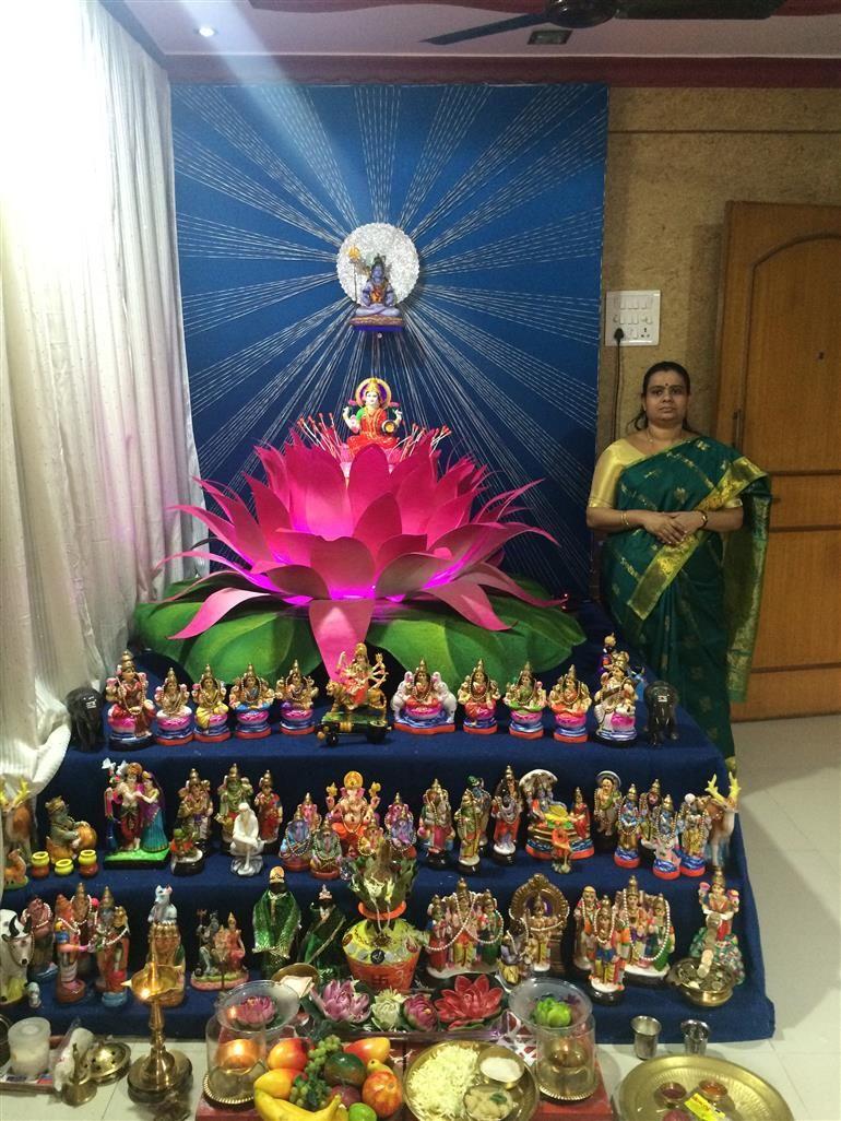 Golu Theme Ideas And Decoration Part - 17: View Latest Photo Gallery U0026 Thumbnails Of Jayashreeu0027s Lotus Themed Golu  Uploaded By Jayashree, Also View Pictures, Images And Photos Of Jayashreeu0027s  Lotus ...