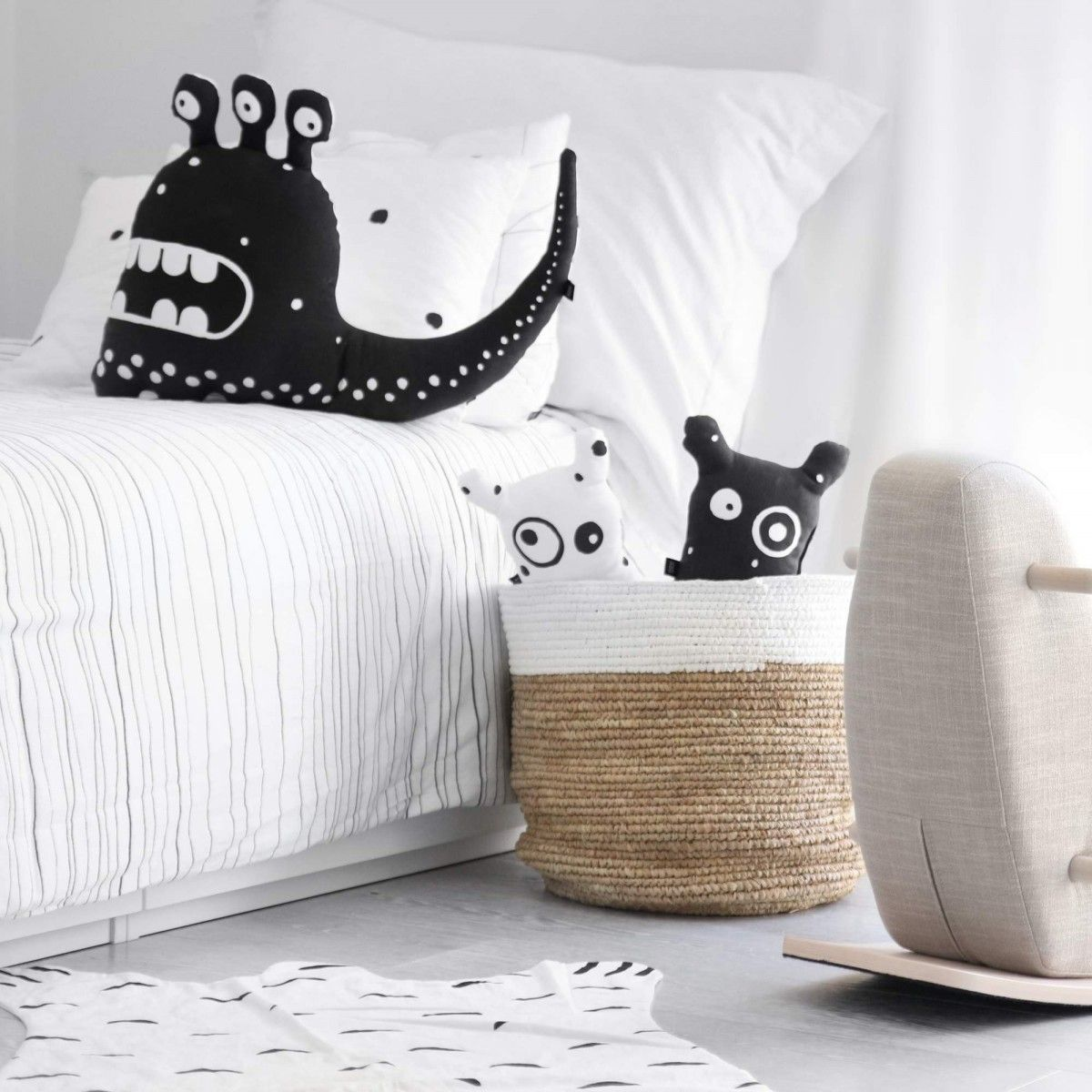 These cutely creepy monster pillows look like musthaves
